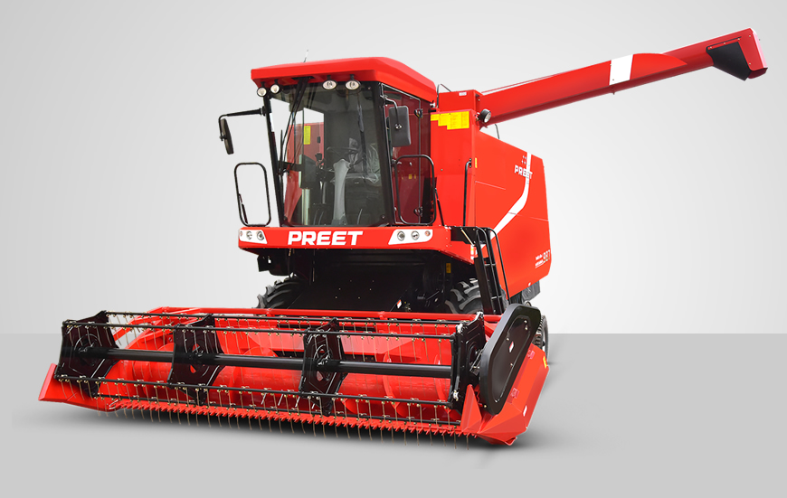 PREET-987-deluxe-Self Propelled Combine Harvestor ac